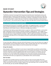 Image of Bystander Intervention Tips and Strategies