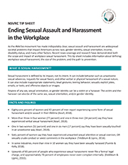 Image of Tip Sheet: Ending Sexual Assault and Harassment  in the Workplace