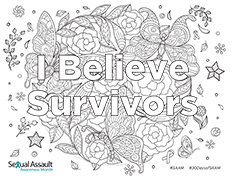 Image of I Believe Survivors Coloring Page