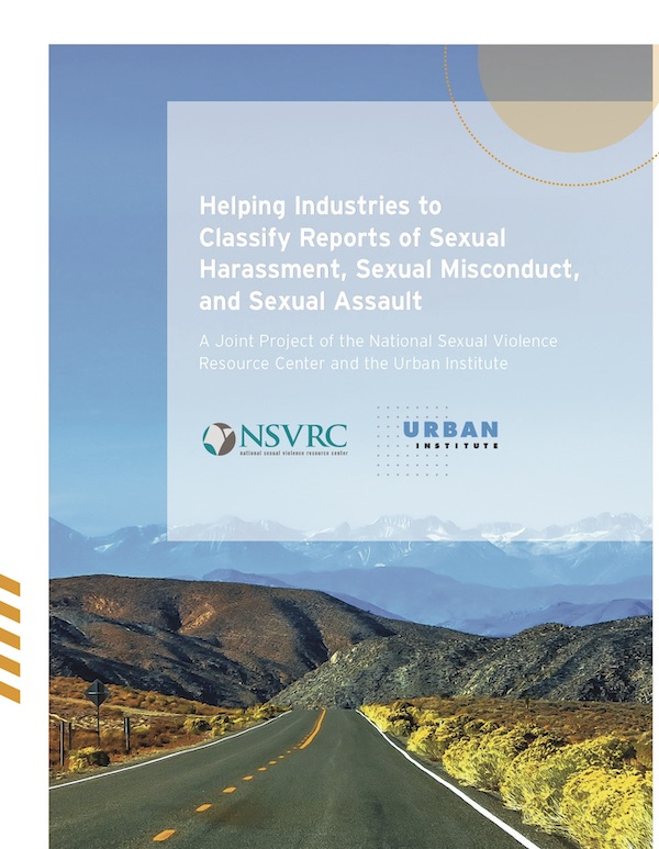 Helping Industries to Classify Reports of Sexual Harassment, Sexual Misconduct, and Sexual Assault