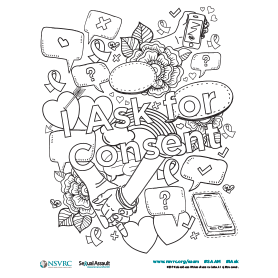Consent Coloring Page