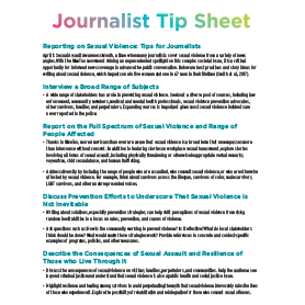 Journalist Tip Sheet