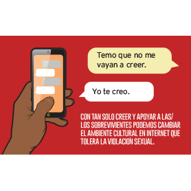 Post card with text conversation in Spanish