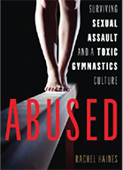 Cover of book which shows gymnast's feet on a balance beam
