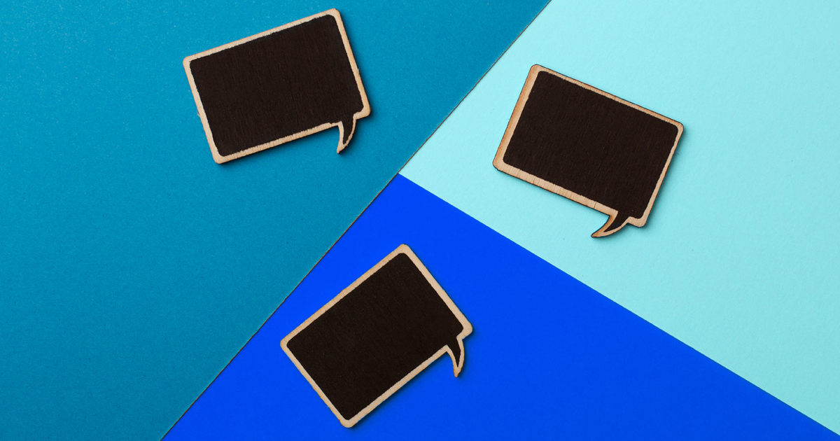 Speech bubble shaped chalkboards