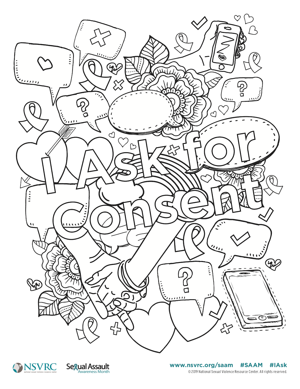 Sexual Assault Awareness Month Coloring Page