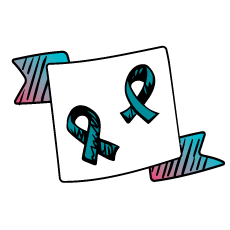 Image of two ribbons