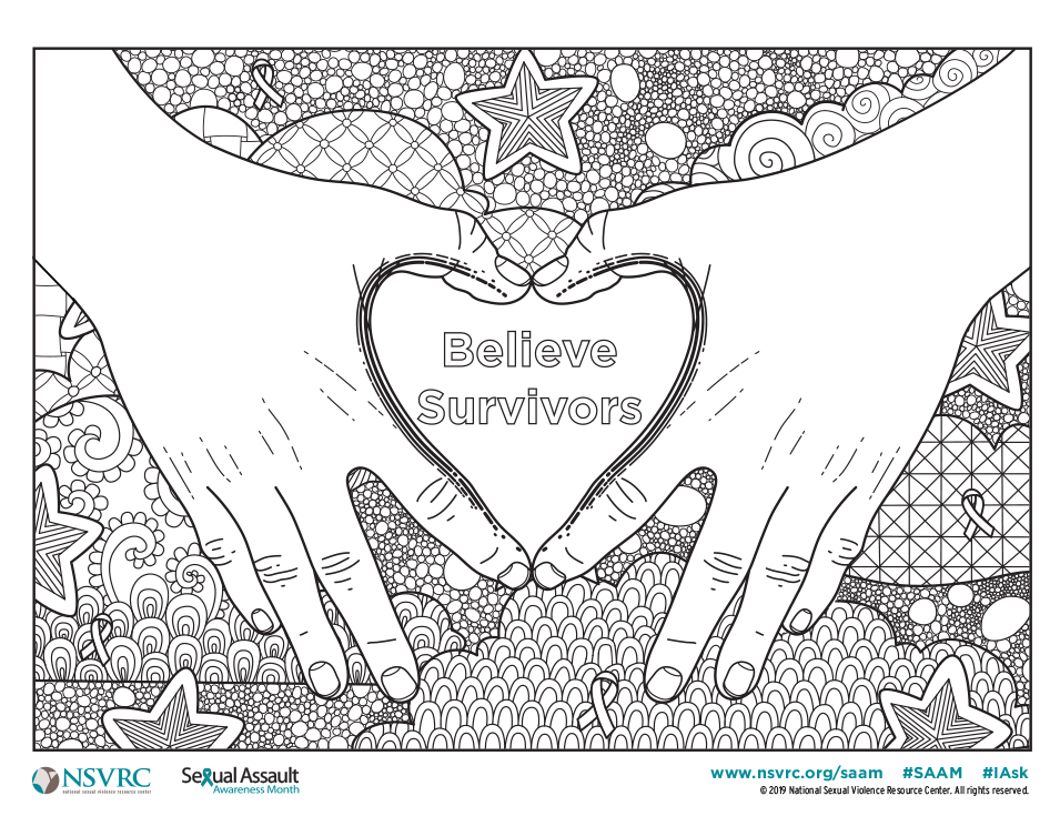 Believe Survivors Coloring Page
