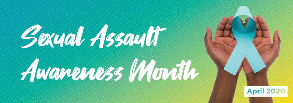 Sexual Assault Awareness Month April 2020 Banner