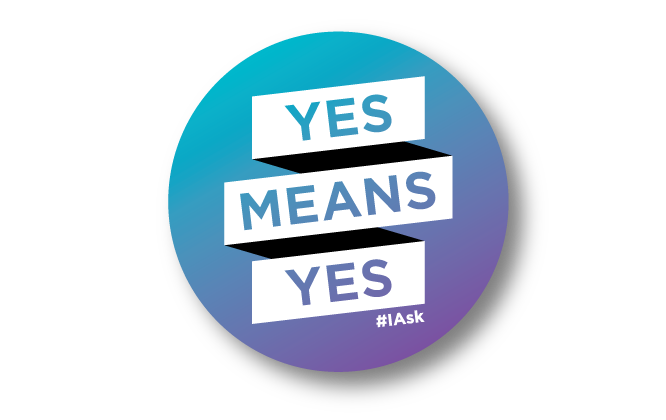 Yes Means Yes Sticker