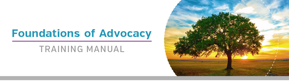 Foundations of Advocacy Training Manual