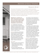Housing & Sexual Violence Research Brief Cover