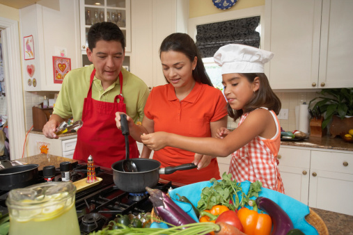 Family cooking image