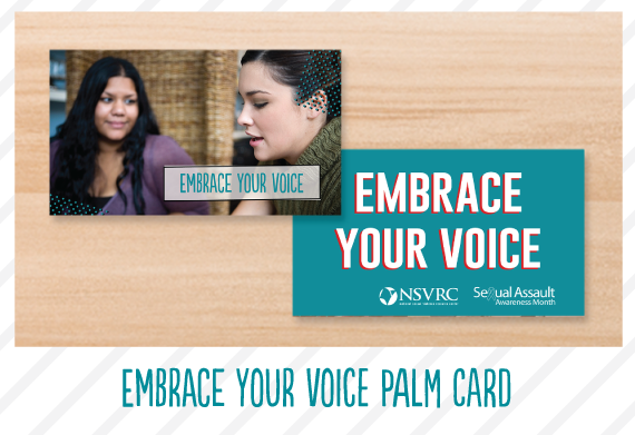 Embrace Your Voice Palm Card