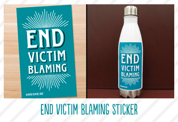 End Victim Blaming Sticker