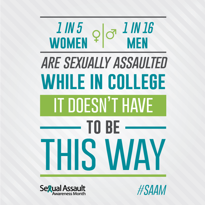 1 in 5 women and 1 in 16 men are sexually assaulted while in college, it doesn't have to be this way