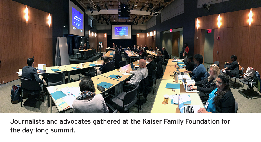 Journalists and advocates at the Raliance media summit