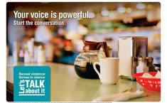 Diner poster-your voice is powerful