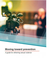 "Cover of ""Moving toward prevention"" which features a video camera"