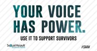 Your Voice Has Power Share Graphic