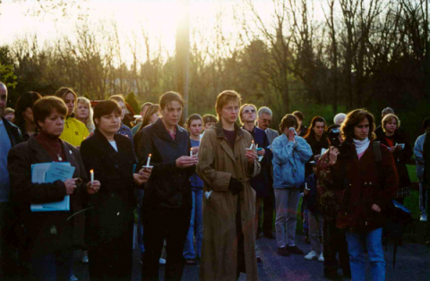 Crime Victims rights event from 2000