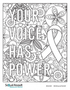 Image of Your Voice has Power Coloring Page
