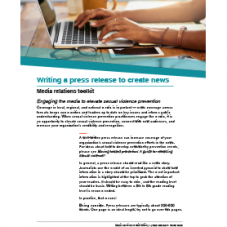 Publication cover showing a person typing on a laptop