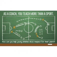 "Postcard that says ""As a coach, you teach more than a sport."""