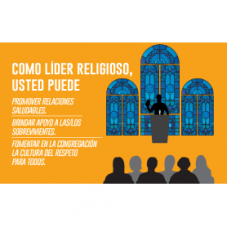"Postcard that says, ""como lider religioso, usted puede..."""