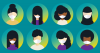 Group of diverse people wearing medical face masks